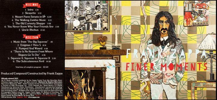 Frank Zappa Album Covers Bill Miller Vintage Linoleum